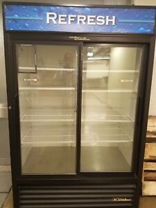 True Brand Commercial Refrigerator With Glass Sliding Doors