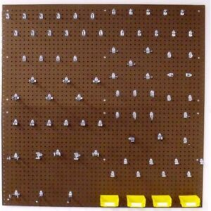 Pegboard Garage Wall Organizer Kit Tool Storage Locking Hooks 83 Pcs Heavy Duty