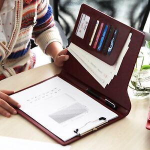 Pu Leather High Quality Folding Case Clip Board Functional Householder Laptop