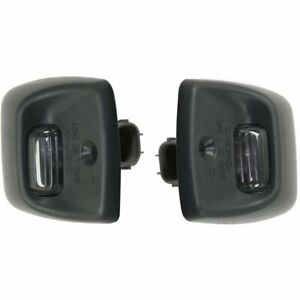 New License Plate Lights Lamps Set Of 2 Rear Driver Passenger Side Lh Rh Pair