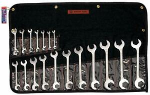 Wright Tool 732 Open End Double Angle 15 And 60 Degrees 18 piece