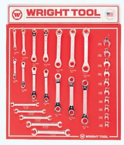 Wright Tool 29 Pc Ratcheting Box Wrenches Flare Nut Wrenches Open End Crowfoot