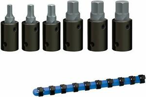 Wright Tool 455 1 2 Drive Metric Impact Hex Bit Socket Set 6 piece