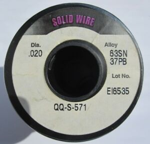 Alpha Metals Solid Wire Solder Sn63 Pb37 020 No Flux Clearance