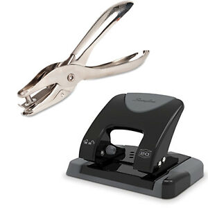 Hole Punch Bundle 2 Hole Plus Single Hole Puncher School Office Supply Crafting