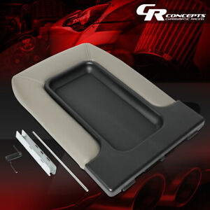 Center Console Lid Kit Arm Rest Latch Replaces For 01 07 Silverado sierra Gray
