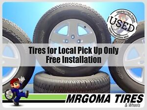 4 Wheels Jeep 17x7 5 Used Rims 5x127 255 75 17 Goodyear Used Tires 7 5x17