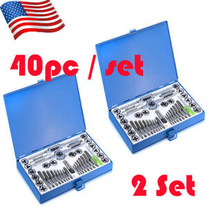 80pc Wrench Tap And Die Set Cutter Kit Metric Steel Screw Bolt Case Ship From Us