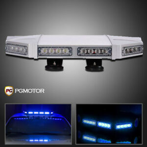 56 Led Warning Traffic Adviser 18 Emergency Roof Strobe Security Light Bar Blue