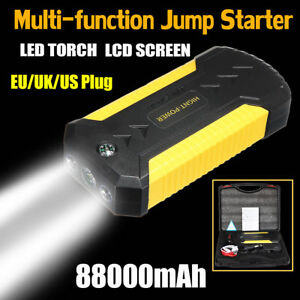 88000mah Car Jump Starter 4 Usb Emergency Charger Booster Power Bank Battery