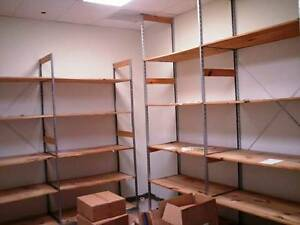 Backroom Shelving Retail Wood Storage Shelves Used Store Fixtures Liquidation