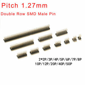 1 27mm Pitch Smd Double Row Male Pin Header 2x2p 2x50p Connector Il