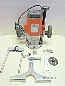 Plunge Router 3 Hp With Edge Guide Trim Guide 1 4 3 8 1 2 Collets More