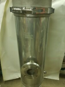 Amf Cuno 9zm3 Stainless Liquid Cartridge Filter Housing 125psi 12 Diameter X 53