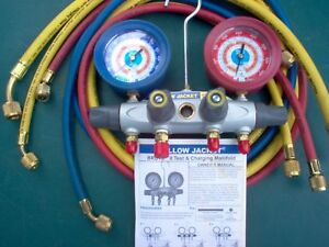 Yellow Jacket Brute Ii Model 46032 Charging And Test Manifold With Hoses