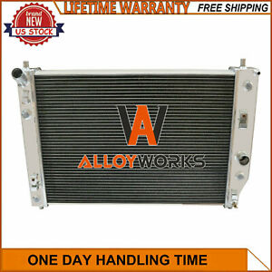 4 Row Aluminum Radiator For Chevy Corvette C6 V8 2005 2013 08 09 10 11 12
