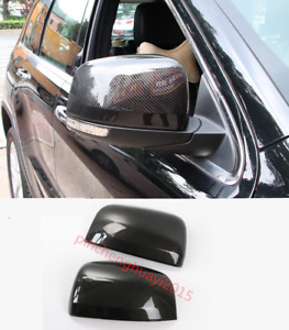 Carbon Fiber Side Door Rearview Mirror Cover Trim For Jeep Grand Cherokee 14 18