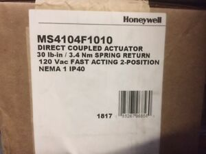Honeywell Ms4104f1010 Electric Actuator 30 Lb in 2 Spdt Ruskin Damper Kit new