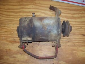 Farmall Cub Ih Generator With Mounting Brackets And Voltage Regulator Mounting