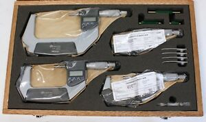 Sale Mitutoyo Digital Micrometer 4 Piece Box Set 0 4 Ip65 In Original Packaging