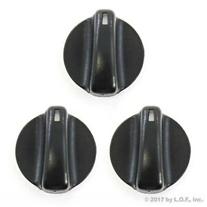 3 Fits Chevy Geo Prizm 93 97 Heater Temperature Control Knobs Black Replacement