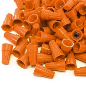 2500 Pcs Orange Screw On Wire Electrical Connectors Twist on Easy Screw Pack
