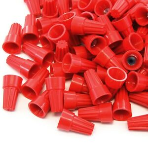 2500 Pcs Red Screw On Wire Electrical Connectors Twist on Easy Screw Pack