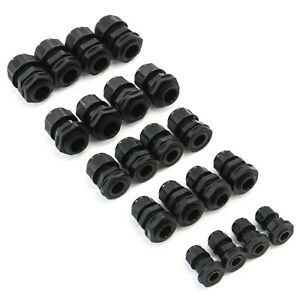 20 Pcs Cable Glands 5 Sizes Variety Pack 3 5 To 14 Mm Lock Nut Connector Joint