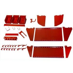 Pegboard Accessory Kit Metal Pegs Slotted Tool Board Hooks Bins Hangers Garage