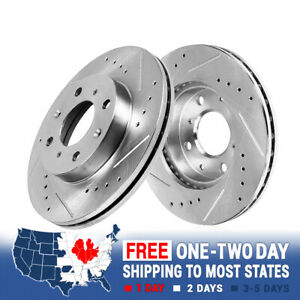Front 280 Mm 4 Lug Brake Rotors For 2007 2008 2009 2010 2011 Mini Cooper