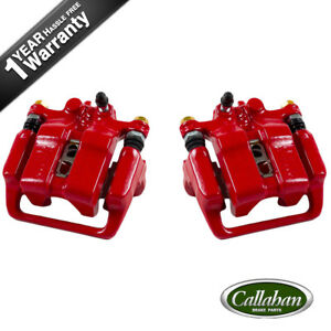 Rear Red Coated Brake Calipers For 1999 2000 2001 Acura Rl