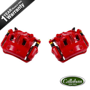 Front Performance Red Calipers For Nissan Frontier Pathfinder Xterra Equator