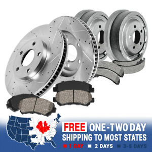 Front Brake Rotors Ceramic Pads Rear Brake Drums Shoes For Wrangler Cherokee