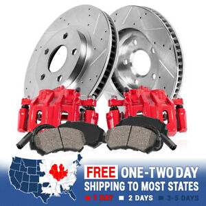 Rear Red Brake Calipers And Rotors Pads For Bmw 330 335i Xdrive 335d