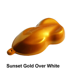 Sunset Gold Candy Basecoat Paint And Kit Options For Motorcycles Or Cars