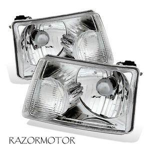 2001 2011 Replacement Headlight Lamp Pair For Ford Ranger Pickup Truck W Bulb