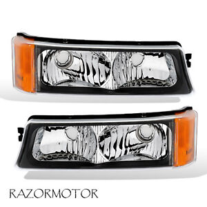 2003 2006 Replacement Parking Signal Light Pair For Chevy Silverado Avalanche