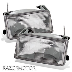 1992 1996 Replacement Headlight Lamp Pair For Ford F150 F250 F350 Bronco W Bulb