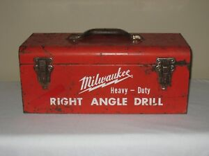 Milwaukee Tool Heavy Duty Right Angle Drill Case Only Vintage Metal No Drill