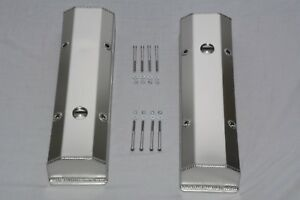 Fabricated Polished Aluminum Small Bock Chevy Tall Valve Covers Sbc 283 305 350