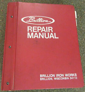 Brillion Iron Works Repair Manual 24 Machine Catagories