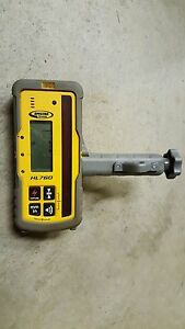 Used Spectra Precision Hl760 Laser Receiver And Rod Clamp For Rotary Laser