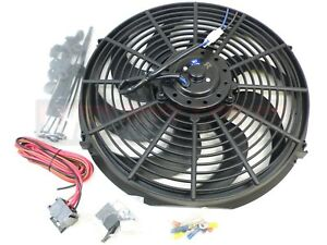 14 Electric Fan 2200 Cfm Wiring Install Kit Complete Thermostat 50 Amp Relay