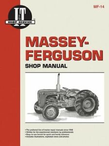 Shop Manual Massey Ferguson Massey Harris F40 Mf35 Mf50 To35 Mf204 Mh50