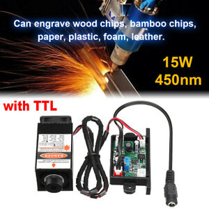 New Laser Head Engraving Module 450nm Blu ray With Ttl Wood Marking Cutting Tool