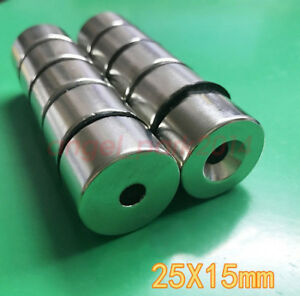 1 X 0 59 Hole 1 4 Disc Super Strong Round Rare Earth Magnetic Magnets N50
