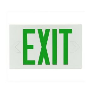 Exitronix Single double Face Led Exit Sign Green Letters With Battery 22921
