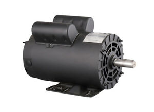 Electric Motor 3450 Rpm 5hp Air Compressor 145t 7 8 Shaft 1 Phase 208 230v
