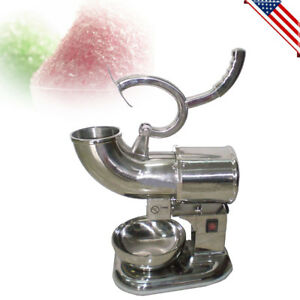 220w Commercial Ice Shaver Machine Shaved Icee Maker Sno Snow Cone Usa Stock