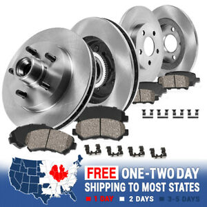 Front Rear Rotors Ceramic Pads For 1999 2000 2001 2002 Ford Expedition